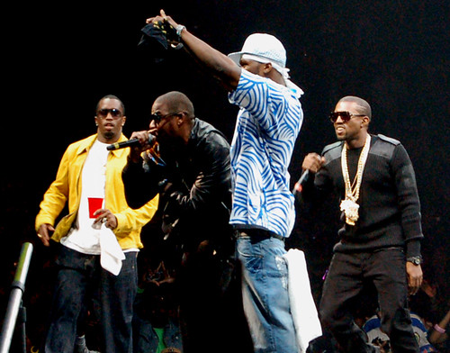 Diddy, Jay-Z, 50 Cent and Kanye West [Madison Square Garden / 08.22.07]