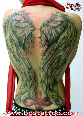 Angel Wings par olive bps tattoo nimes