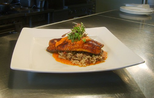 Blackened Catfish with Smoky Red Beans and Rice