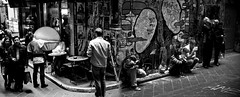 Graffiti Photographers Pano (Matt_Lew) Tags: panorama white black canon eos rebel graffiti is photographers australia melbourne victoria usm 1785 efs xti 400d melbflickrseptember2007