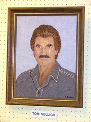 Needlepoint Tom Selleck