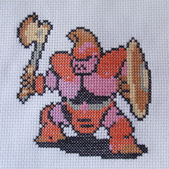 Armored Knight (benjibot) Tags: crossstitch crafts videogames crop nes dragonwarrior reshoot