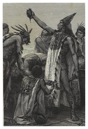 008-Sacrificios humanos-Les Anciennes Villes du nouveau monde-1885- Désiré Charnay