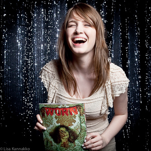 Caitlin with magazine