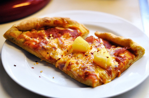 Pineapple and Ham Pizza on a Sweet Potato Crust
