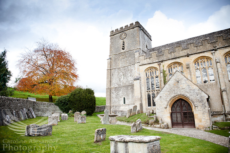 Gloucestershire Wedding Photographer Chedworth Church 1