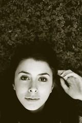 ali (cry tan) Tags: november autumn portrait bw white black fall closeup canon 50mm backyard ali 2010 t1i