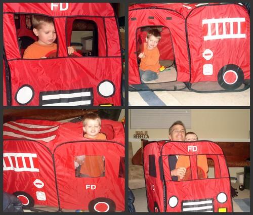 Firetruck play hut