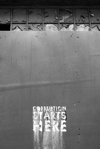 Corruption starts here by Flickr user IntangibleArts (CC)