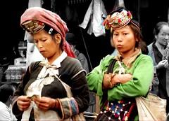 Iko (Akha) (Linda DV (away)) Tags: travel people geotagged asia southeastasia market culture tribal clothes 1998 tribe laos ethnic minority tribo stam indochine akha indochina ethnology tribu stamm iko luangnamtha ethnicminority  trib muangsing trib heimo minoritethnique stamme pokolenia minorit ethnischeminderheid  minderheid  lindadevolder  plemena pokolen    photonegativescan