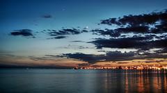 Sunset in the gulf of Thermaikos (Thessaloniki) (George Kapsas) Tags: sunset sea summer night harbor harbour greece thessaloniki salonica thermaikos ysplix pwpartlycloudy