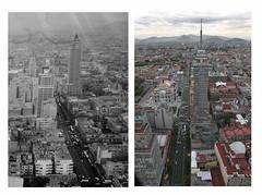 EJE CENTRAL 1950-2004 (djmfuentes) Tags: mexico df torre centro central despues antes eje aerea latinoamericana historico 19502004