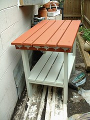 Potting Table Painted (Henryr10) Tags: backyard pottingtable
