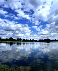 Water and sky (tina negus) Tags: sky autostitch water clouds reflections lincolnshire reflexions denton firsttheearth wowiekazowie top20blue ishflickr tribefluxus excapture