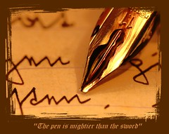 The pen is mightier than the sword (Bulwer-Lytton quote)