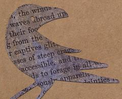 OOAK | Crow Moon Pocket Journal, crow (renmeleon) Tags: moon tree art moleskine paper notebook design branch journal crow etsy stationery ria kraft cahier renmeleon renfolio