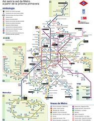 Plano Metro Madrid 2007 Grande