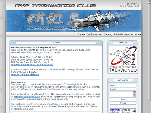 NYP Taekwondo Club Home page