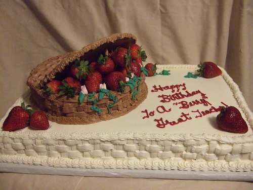 Strawberry Basket Birthday Cake - a photo on Flickriver