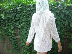 Lacy hooded tunic