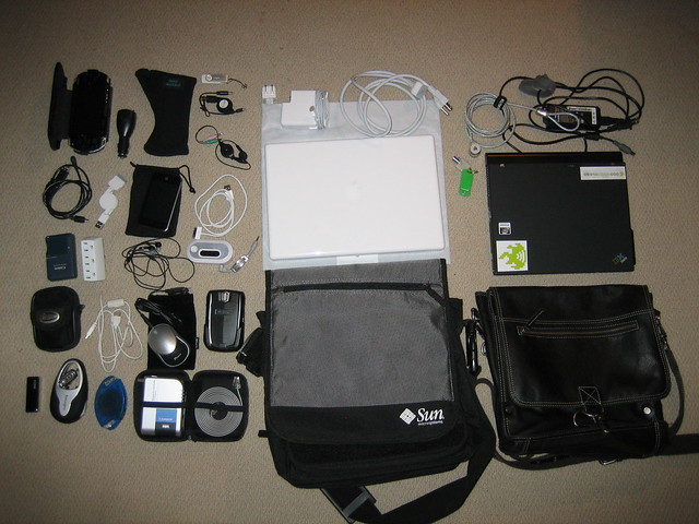 vacation equipment kit gadgets