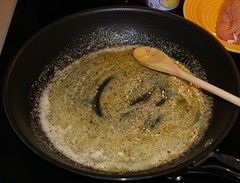 2.)  melt butter, stir in Italian dressing mix