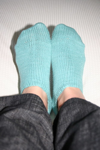 Soya yarn ankle socks