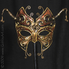 Dark Copper Fae mask