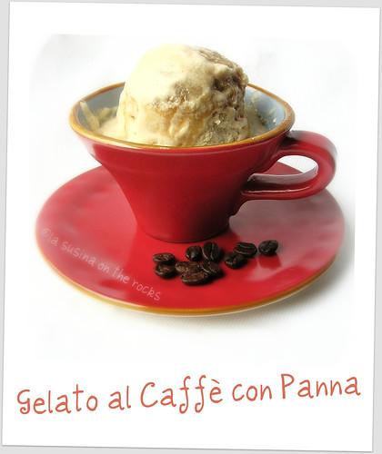 gelato al caffè con panna