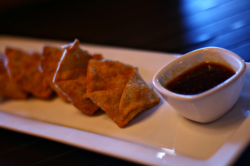 Cream Cheese & Carmelized Onion Wontons