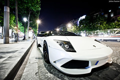 Lamborghini Murcielago Roadster (Valkarth) Tags: white black paris france blanco car night canon eos noche julien italian automobile europa europe noir mark wheels dream champs style automotive voiture ii coche l 5d kit usm blanche 16mm julius lamborghini francia nuit blanc f28 supercar mk parijs reve manfrotto mkii roadster murcielago markii photographe 580 valk 1635 jantes elyse 1635mm affolter lp640 055xprob 580hp hermera 580ch 5d2 lp580 valkarth fautrat xothum valkart