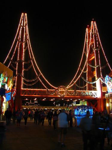 The Holidays Hit The Golden Gate Bridge at Disney California Adventure