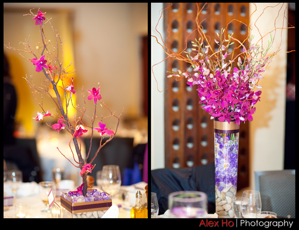 centerpiece with floral and manzanita branches