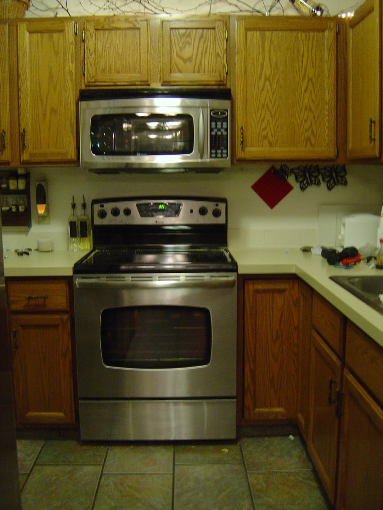 microwave above our stove for a convection microwave hood. The Maytag ...