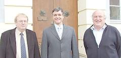 V. l. n. r.: Hans-Georg Westphal (SPD), Torsten Rosenkranz und Malte Tech (FWE)