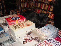 Le chat (gadl) Tags: paris france cat geotagged chat bookcrossing books bookshop bookshelves shelves shakespeareco bookcrosser shakespeareandcompany 75005 soirelecture 20070628 geo:lat=48852616 geo:lon=2347029