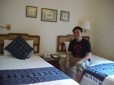 Ming in our room at Perak Lodge