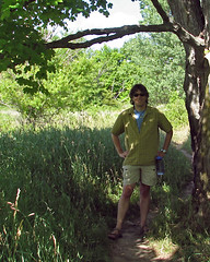 Me by a Tree (Rock Steady Images) Tags: ontario canada me hiking originals monocliffs bypaulchambers rocksteadyimages