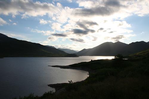 Loch Cluanie sunset