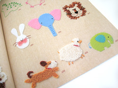 Page 47 - Design Collection for Kids - (Warm 'n Fuzzy) Tags: cute animals felting embroidery craft books japanesecraftbook zakka craftbook