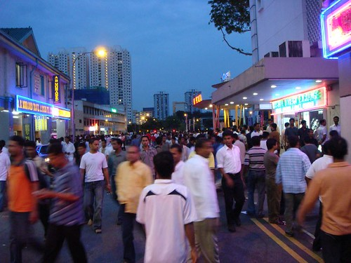 Little India on a Sunday night is a mad experience...