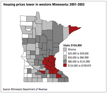 Median Home Prices by County - Minnesota
