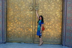 The gates of the Royal Palace in Fes (Dan & Luiza from TravelPlusStyle.com) Tags: royal palace morocco fez moroccan fes daniellaskowski