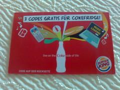 3 Codes gratis für CokeFridge