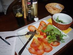 Swordfish carpaccio... Mmmm! (Soosi) Tags: italy lerici italy2007