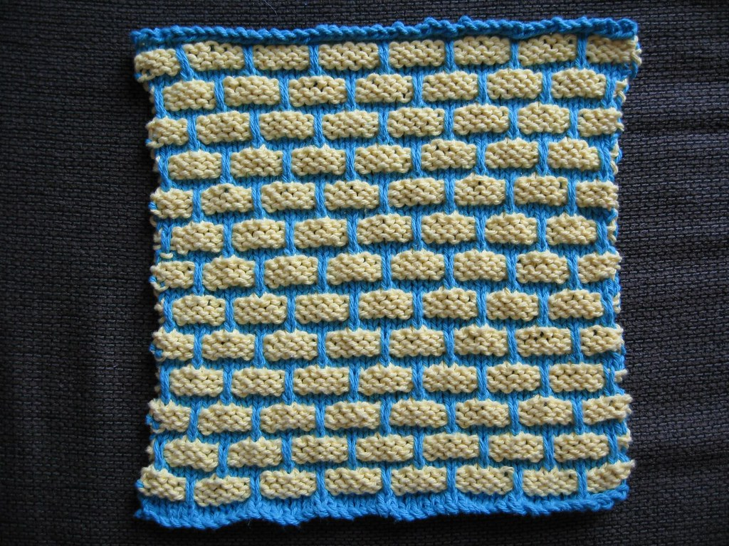 Dishcloth blue yellow