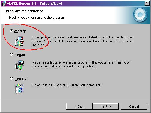 MySQL-modify