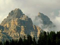 Tre Cime di Lavaredo (Drei Zinnen) (2999 m) from SW. (Bas Vrins) Tags: sunset italy mountain nature clouds italia di tre italie dolomites drei cime zinnen lavaredo trecimedilavaredo