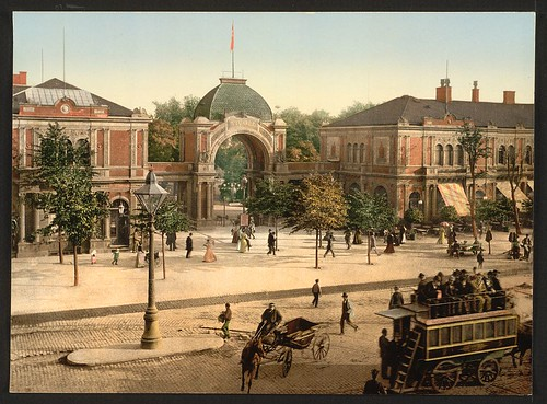 [The Tivoli park entrance, Copenhagen, Denmark] (LOC) by The Library of Congress.