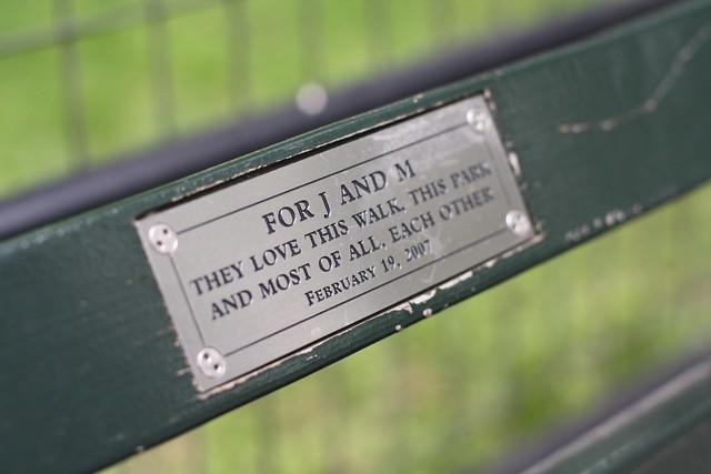 En egen benk i Central Park